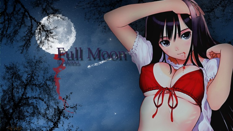 Fonds d'écran Manga Sexy Full moon