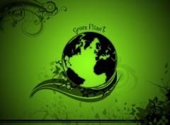 Wallpapers Digital Art Green Planet