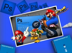 Wallpapers Digital Art mario vs photoshop >>> created by krimecity digital