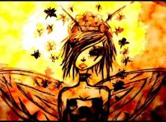 Fonds d'écran Art - Numérique dessin femme papillon fée par moi