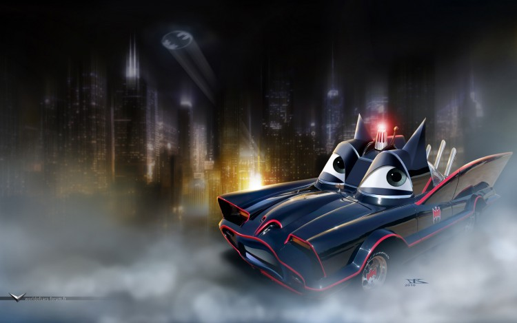 Wallpapers Cartoons Cars 1 and 2 Batmobile