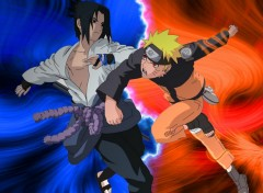 Fonds d'écran Manga Naruto contre Sasuke !