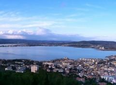 Fonds d'écran Voyages : Europe Vue sur Sète et l'étang de Thau dans l'Hérault (34)