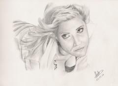 Fonds d'écran Art - Crayon Brittany Murphy