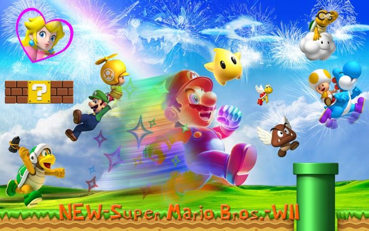 Fonds d'écran Jeux Vidéo New Super Mario Bros New Super Mario Bros. Wii