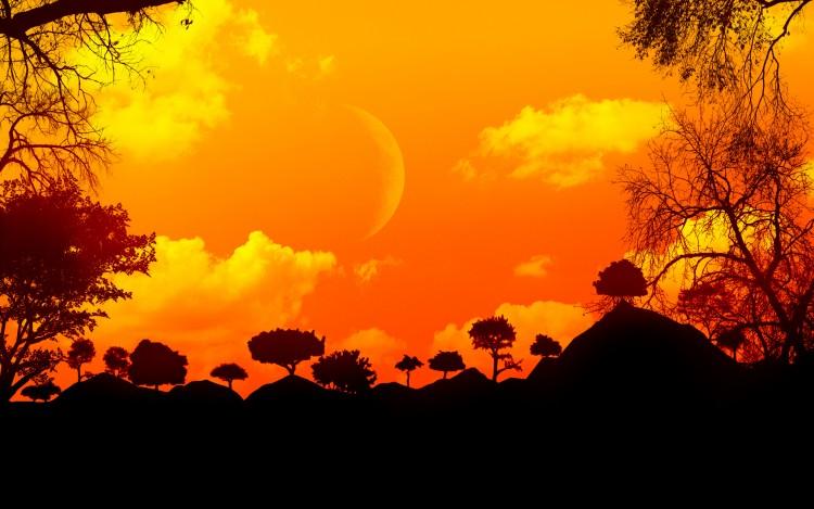 Fonds d'écran Art - Numérique Nature - Ciels, couchers de soleil Coucher de soleil