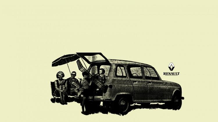Fonds d'écran Voitures Renault 4L