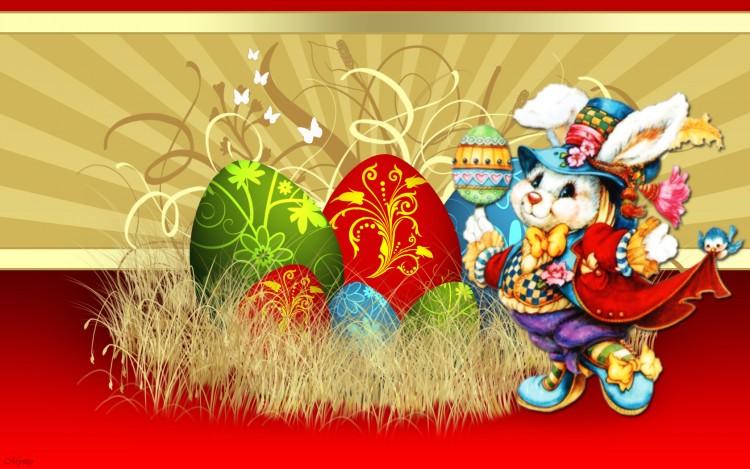 Fonds d'écran Art - Numérique Fêtes - Pâques Lapin de Pâques