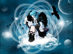 Wallpapers Fantasy and Science Fiction Ange Noir