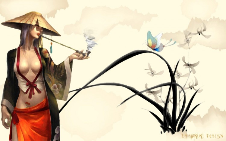 Wallpapers Digital Art Women - Femininity Style asiatique