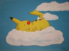 Fonds d'écran Art - Peinture Sieste de Pikachu