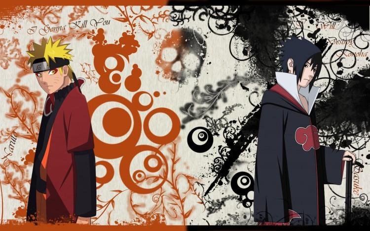 Fonds d'écran Manga > Fonds d'écran Naruto Naruto Vs Sasuke par ...
