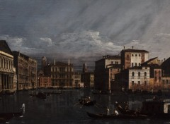 Wallpapers Art - Painting Bernardo BELLOTTO. Venise,1721 - Varsovie, 1780  Le Grand Canal a Venise ( 1736-1740 ).