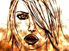 Fonds d'écran Art - Peinture DESSIN FEMME