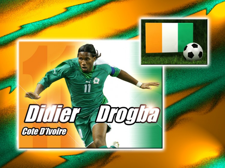 Wallpapers Sports - Leisures Football Didier Drogba Côte d'Ivoire
