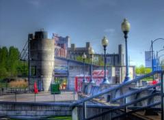 Fonds d'écran Voyages : Amérique du nord Vue sur l'usine de farine