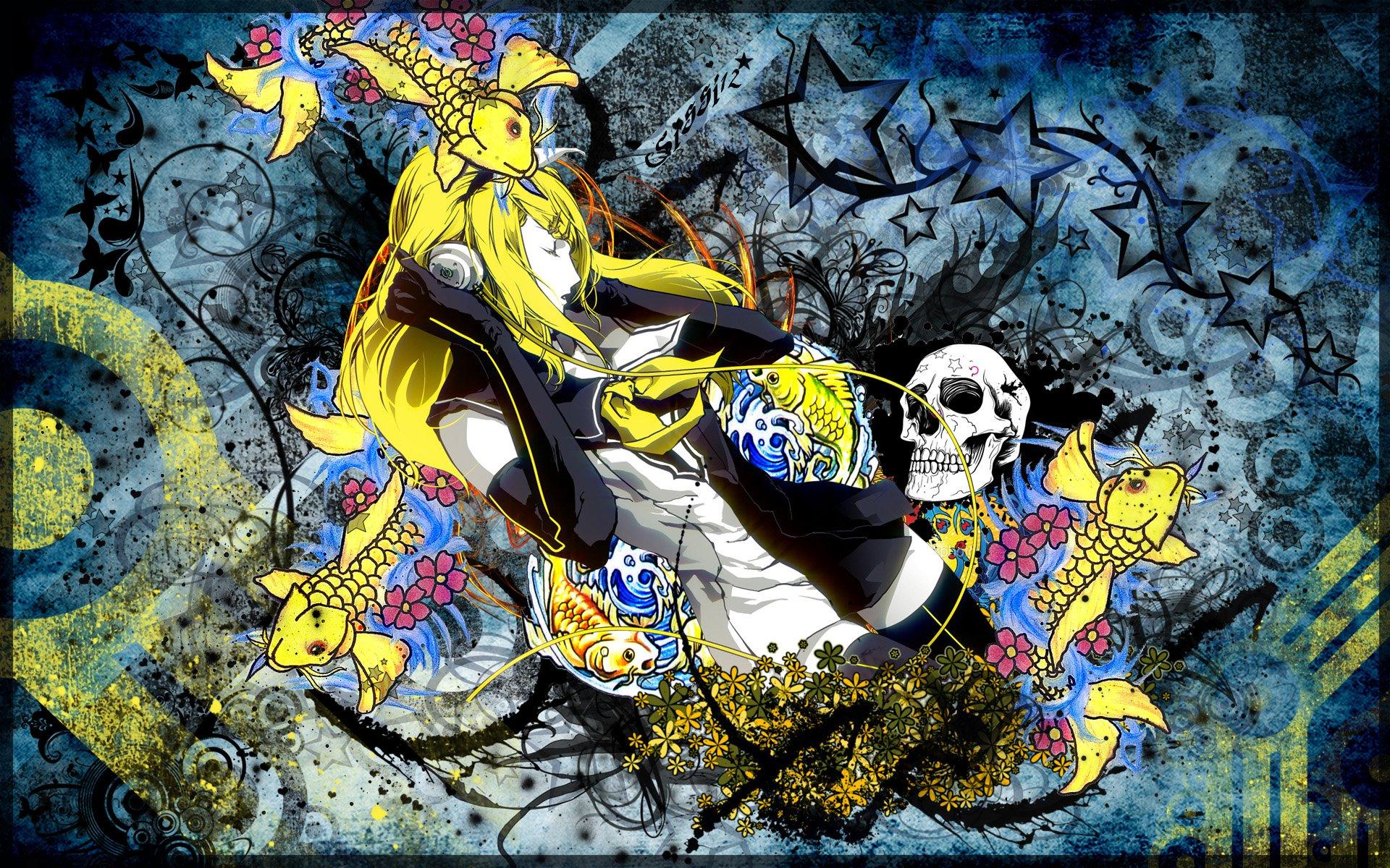 Fonds d'écran Art - Numérique Femmes - Féminité Yellow!!!