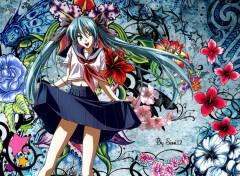 Fonds d'écran Manga Miku Hatsune