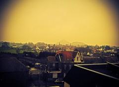 Fonds d'écran Voyages : Europe Les deux terrils dans la brume du matin d'hiver.