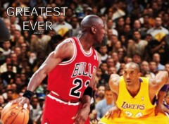Wallpapers Sports - Leisures michael jordan vs kobe bryant