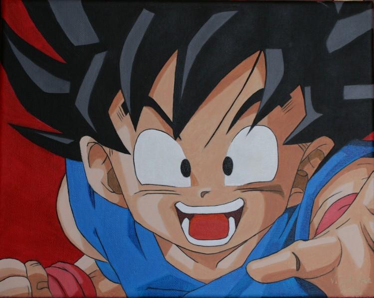 Fonds d'écran Art - Peinture Manga Sangoku heureux