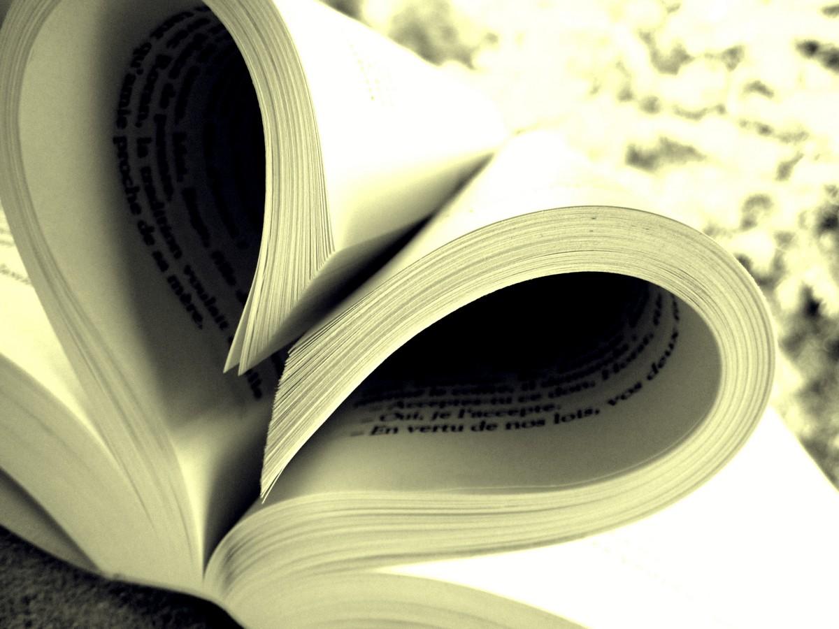 Fonds d'écran Objets Ecriture Books, I LOVE YOU.