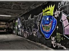 Fonds d'écran Art - Peinture Blue Monster