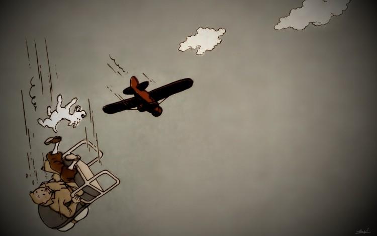 Fonds D Ecran Art Peinture Fonds D Ecran Bd Largage De Tintin Et Milou Par Buddysier Hebus Com