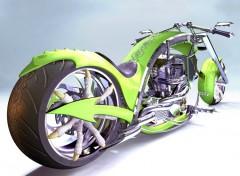Fonds d'écran Art - Numérique Chopper Dragon moto