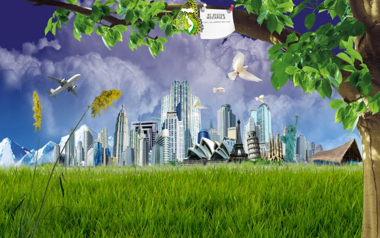 Wallpapers Digital Art Nature - Landscapes monde
