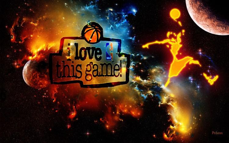 Fonds d'écran Sports - Loisirs Basketball Slam the moon