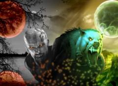 Wallpapers Fantasy and Science Fiction Lp garou vs Vampire
