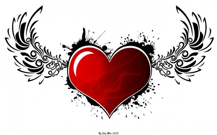 Fonds d'écran Art - Numérique Amour, amitié Coeur d'Ange