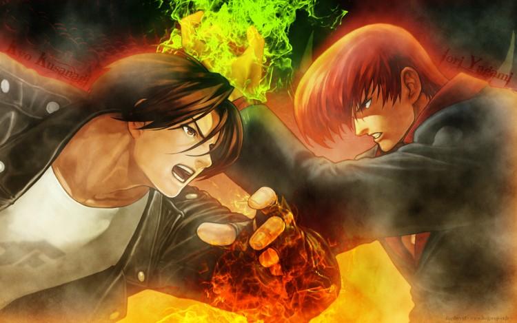 Fonds d'écran Jeux Vidéo King Of Fighters Kyo vs Iori