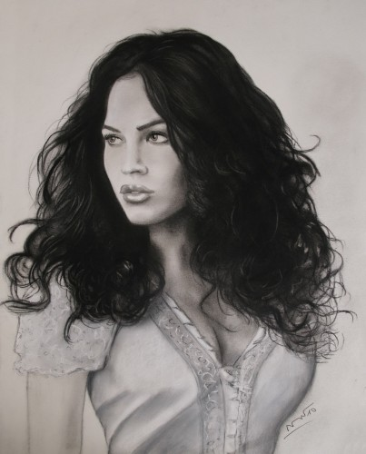 Fonds d'écran Art - Crayon Portraits Megan Fox 3
