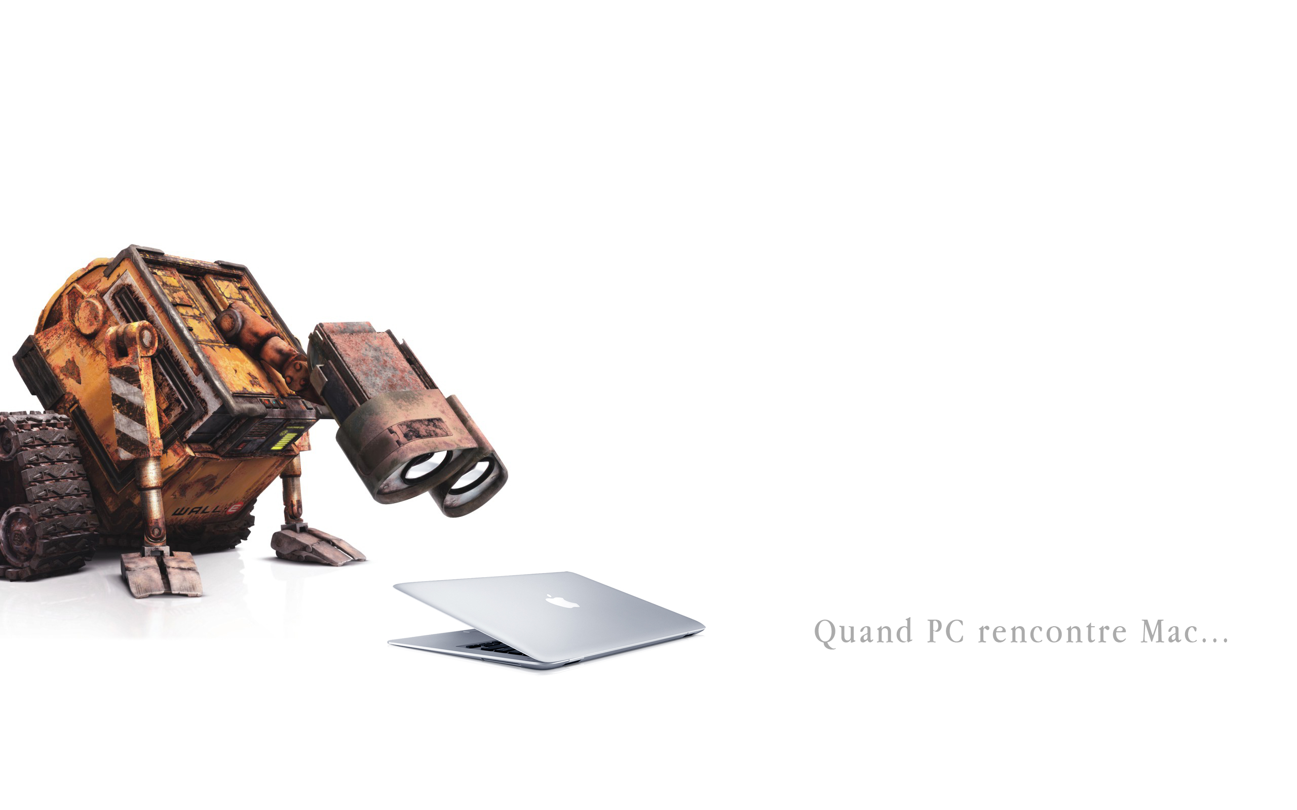 Fonds d'écran Informatique Apple Quand un PC rencontre un Mac