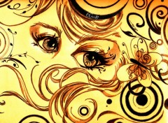 Wallpapers Art - Pencil Glamorous Eyes 01
