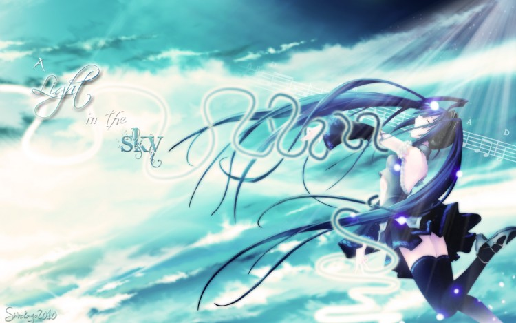 Wallpapers Manga Vocaloïds A light in the Sky