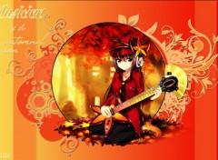 Fonds d'écran Manga Musicienne de l'automne