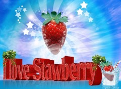 Wallpapers Digital Art I love strawberry