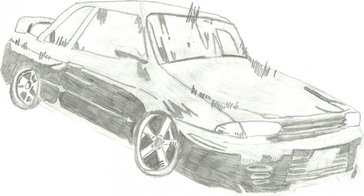 Fonds d'écran Art - Crayon Voitures et Motos Nissan Skyline R32 GTR