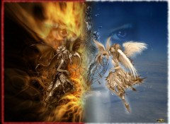 Wallpapers Fantasy and Science Fiction Angel Or Devil ? :D