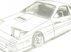 Wallpapers Art - Pencil RX7 FC 3S (face)
