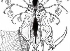 Fonds d'écran Art - Crayon Tisseur Sombre : Dieu des Morts