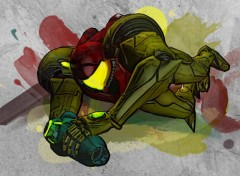 Wallpapers Video Games Samus in offensive painting