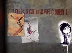 Fonds d'écran Art - Peinture Défence d'afficher!