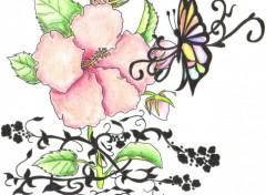 Fonds d'écran Art - Crayon fleur 1