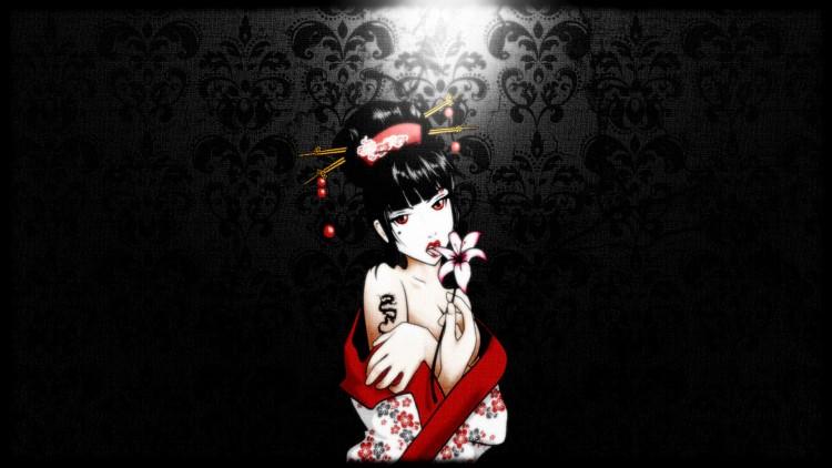 Fonds d'écran Art - Numérique Style Asiatique Dark Geisha
