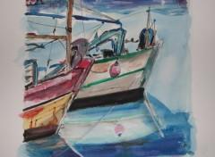 Fonds d'écran Art - Peinture Pêches; technique.