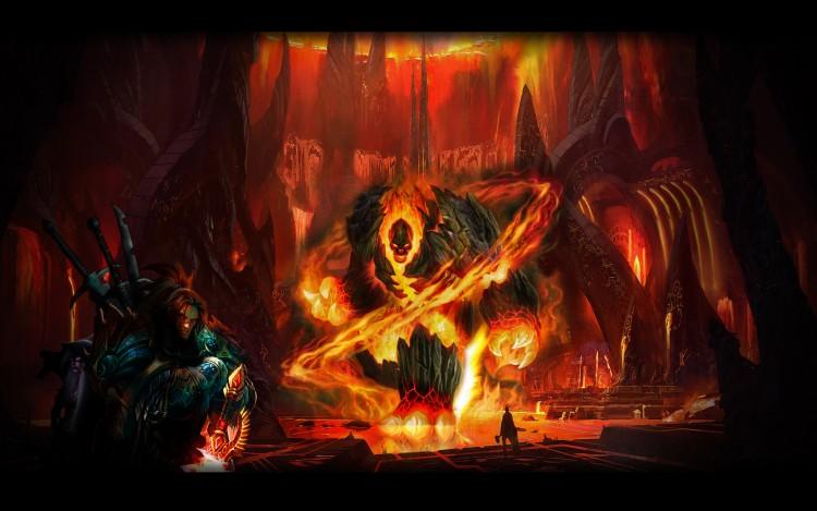 Fonds d'écran Fantasy et Science Fiction Démons - Enfer L'antre du Golem